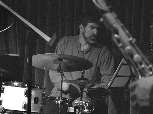 Ronny Ferella at the drum kit