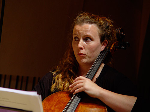 Naomi Wileman on cello