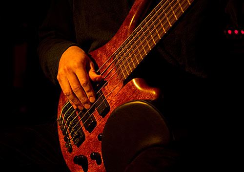 Dimond on electric bass