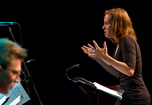 "Alice Humphries conducts JMO in ""The Mending"""