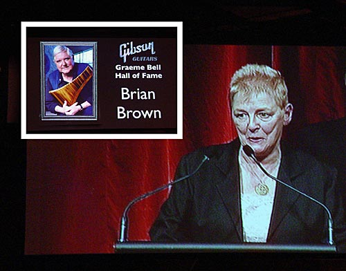 Hall of Fame for Brian Brown: Ros McMillan speaks about his life and music.