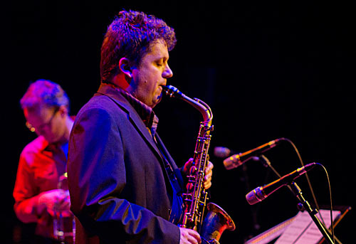 David Rex on alto sax and Jordan Murray (at left).