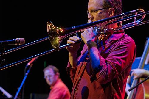Jordan Murray on trombone.
