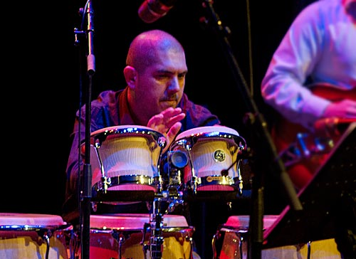 Javier Fredes on percussion.
