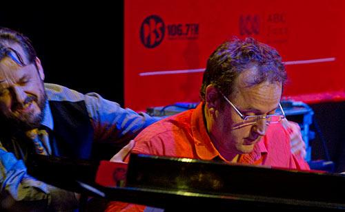 Grand larceny: Barney removes brother John from the piano.