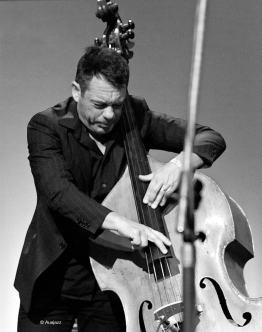 Jonathan Zwartz in Bernie McGann's quartet Wangaratta 2012
