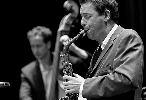 Tom Lee on bass and David Wilson on alto sax