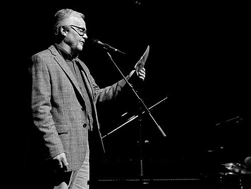 The ABC's Gerry Koster announces at Melbourne Recital Centre