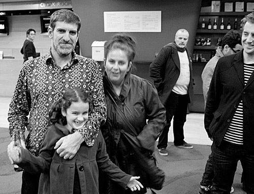 Omelette's star drummer Ronny Ferella with his family after the MRC gig.