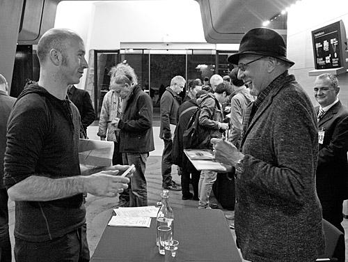 Charles Lloyd signs CDs for appreciative fans at Melbourne Recital Centre