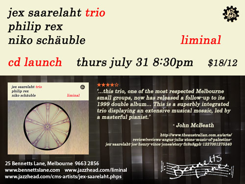 CD launch flyer for Liminal