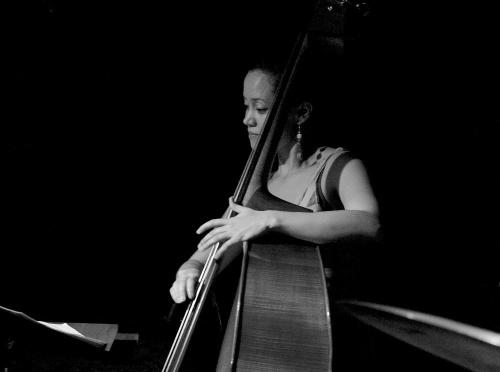 Arlene plays bass.