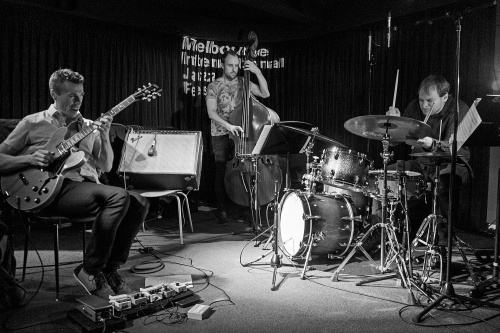 Quentin Angus, Sam Anning and Ari Hoenig play Bennetts Lane.