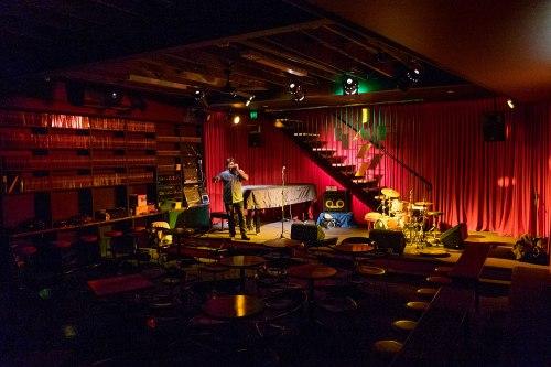 Michael Tortoni makes some final tweaks to The Jazzlab.