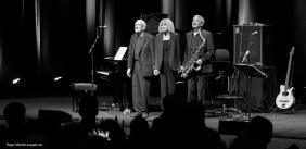 Carla Bley Trio members take a bow