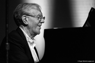 Tony Gould at the piano during the Monash sessions.