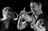 Chris Hale on bass, Paul Williamson on trumpet.