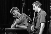 Bede Ford-Gaddes trumpet and Max Slorach saxophone